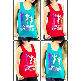 332f44ee7 Kit 2 Camiseta Regata Feminina Fitness Academia Top Atacado