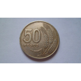 Moeda Uruguay 50 Pesos 1970 Antiga