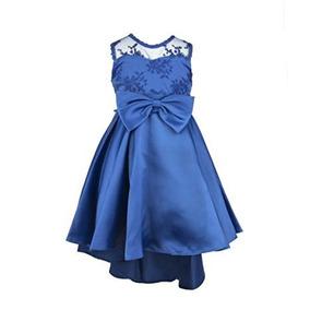 Vestido Formal Azul Elegante Princesa Largo Bordado Boda