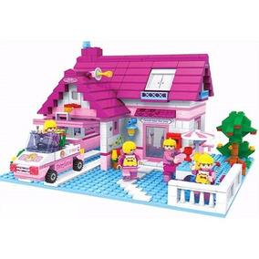 Bloco Montar Casa Familia Carro 622 Pç Meninas Friends