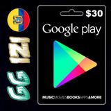 Google Play Gift Card $30 - Tarjeta De Regalo - Usa