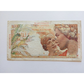 Mil Francs De Martinique - Super Rara . Única No Merc. Livre