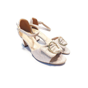 Sandália Salto Médio Feminino Piccadilly Ref 542078 Dourado
