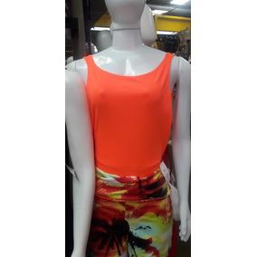 Body Cavado Tiras Moda Suplex Roupas Femininas Neon Verão