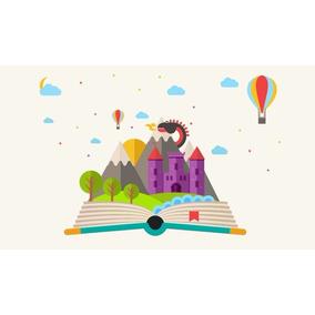 Painel Lona Festa 3,00x1,70mt Livro Conto De Fadas