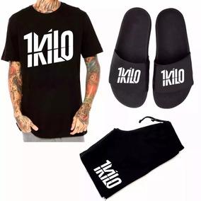 39c84d073d Kit 1kilo Bermuda Camisa Banda 1kilo+ Chinelo Banda 1kilo
