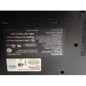 Laptop Sony Vaio Model Pcg8