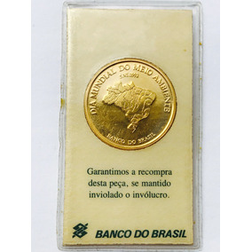 Moeda Brasileira Em Ouro Puro.