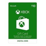 Tarjeta De Recarga Regalo Gift Card 10 Usd Xbox 360 One