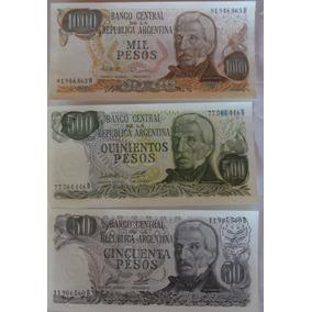 Cédulas Argentina Pesos 50/500/1000 - 3 Unidades