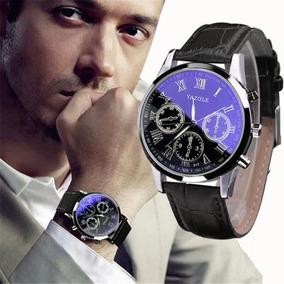 Relógio De Couro De Moda De Luxo Quartzo Analógico