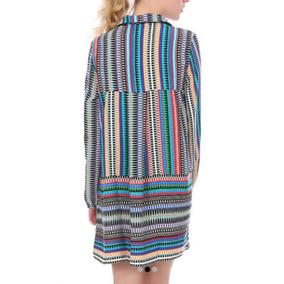 Mini Vestido Bluson Camison Sexy Ts Multicolor Tunica C107