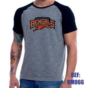 c8b97c9715 Camisa Raglan Cincinnati Bengals Nfl Futebol Mescla