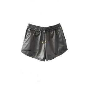 Kit Com 5shorts Feminino Boxer Metalizado Cirre Brilho Hot