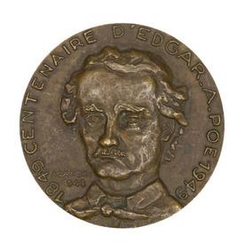 Edgar Allan Poe Medalha Comemorativa Centenário