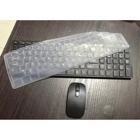 Teclado Mouse S Fio Wireles Macbook Pc Grátis Protetor Preto