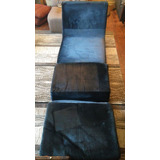 Sofa Cama Terciopelo Azul
