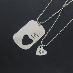 Par De Colar Casal Namorados - I Carry Your Heart With Me