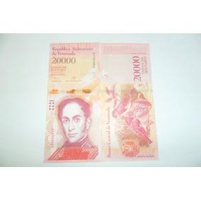 Kit Com 3 Cédulas De 20000 Bolivares Fe.