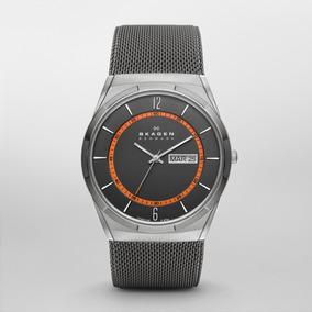 Reloj Caballero Skagen Melbye Skw6007 Gunmetal De Titanio