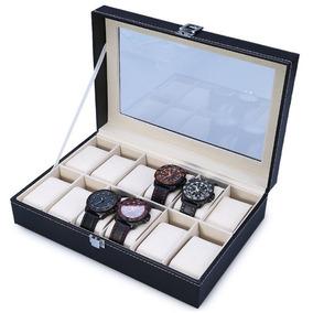 Caixa Estojo Porta 12 Relógios Organizador - Frete Grátis!!