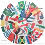 Bandeiras Para Missões Evangelho 32 Nações 11m Poliéster