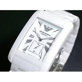 Relógio Emporio Armani Ar1408 Cerâmica Branca Lindo Promoçao