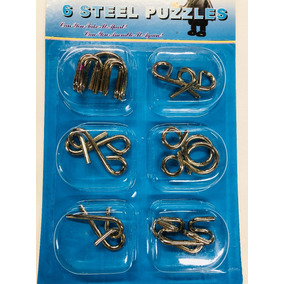 Quebra Cabeça De Metal Enigma 6 Modelo C/instruções - Puzzle