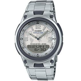 b9bbaf54072 Relógio Casio World Time Aw 21u Lindo Raro !!!! - Relógios no ...