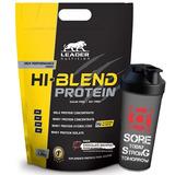 Whey Hi Blend 1.8kg + Shaker - Leader - Isolado + Hidrolis.