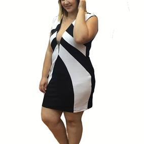 Vestido Bicolor Plus Size Modelo Instagram eda90bed061