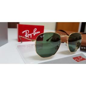 Óculos Ray Ban Rb3548 Hexagonal Dourado Verdes G15 Original - Óculos ... b35177ca2d