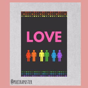 Pôster A4 - Love
