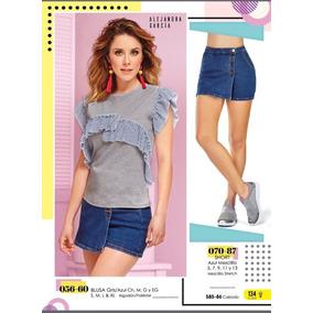 Blusa Gris Azul 056-60 Cklass/ Mundo Outlet