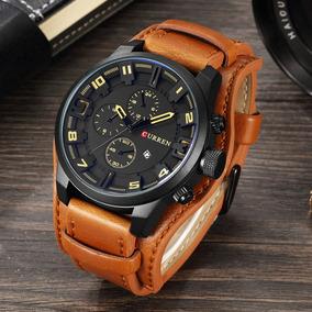 Relógio Curren Masculino Importado Couro Luxo Frete Grátis