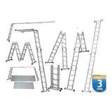 Escada Multifuncional C/ Plataforma 4x4 16 Degraus