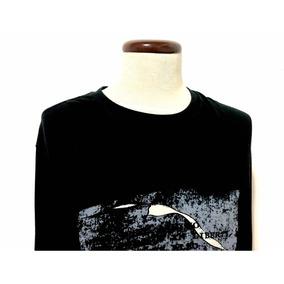 Playera Adolfo Dominguez Negra 7 Xl Mini Detalle 100%cotton