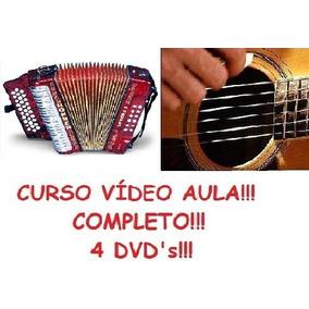 Aulas De Acordeon + Violão, Curso Em 4 Dvds Wsx2