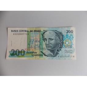 Cedula De 200 Cruzeiros,estampa Da República,estado De Fe.