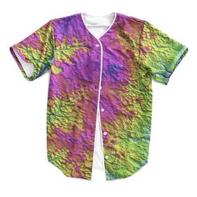 Camisa Jersey Baseball Psicodelico Lsd Rave Acid Swag 3 Mt f304a8ef94ff3