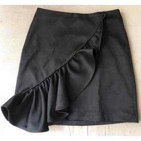 61806b53d9 Remato Falda Negra Con Vuelos H m Talla 34   Xs