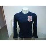 Camisa Corinthians Nike Manga Longa De Treino