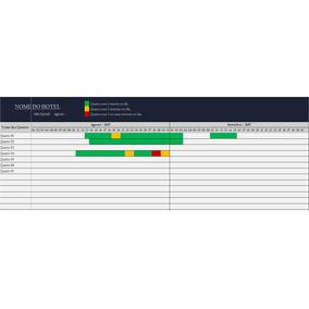Planilha Programação E Reserva Hospedagens Hotel Pousada Nw