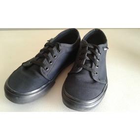 e8e462340 Zapatillas Vans Vulcanized Original Negro Full Black Us6 38