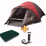 Combo Carpa Iglu 6 Personas + Colchon 2 P+ Inflador Camping