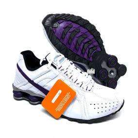 Nike Shox Branco E Roxo Feminino - Tênis no Mercado Livre Brasil 4051094fb1c1f