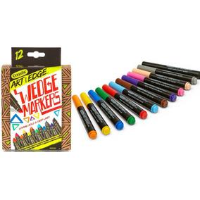 Canetinha Crayola Art Wedge Markers Original 12 Cores