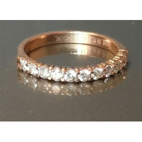Anillo Oro Rosa 14k Con 11 Diamantes 0.53ct Remato