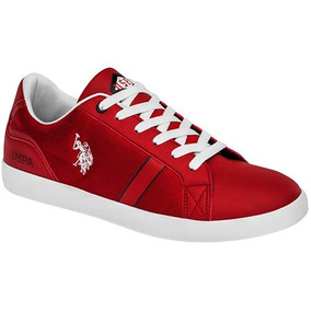 Tenis U.s. Polo Assn. Zack-40-022 Color Rojo Caballero Oi