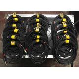 Pack Lote 15 Cables Xlr Canon 6mts. Audio Mono. No Dmx